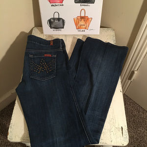 "7 for all Mankind Studded ""A Pocket"" Denim Size 26"